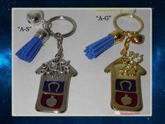 μπρελόκ σπιτάκι Charms, Personalized Items, Detail, Handmade, Hand Made, Handarbeit