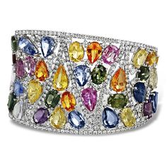 Best Diamond Bracelets  : Multi-Color Sapphire Diamond Cuff Bracelet - Tap on the link and check out my store and keep up to date with the latest must-haves at no bullshit prices!! We specialize in sourcing high-quality products and zero shipping costs so you know who to trust.