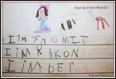 The Educators' Spin On It: What kindergarten writing looks like - a year of student samples