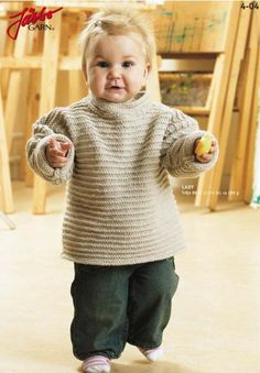 Knitting For Kids, Baby Knitting Patterns, Baby Barn, Textiles, Handicraft, Knit Crochet, Men Sweater, Turtle Neck, Sweaters