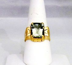 Mens 10k Solid Yellow Gold Cushion Cut by ricksjewelryemporium, $670.00