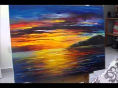 A sped up video of Leonid Afremov making a recreation of Colorful Night - YouTube