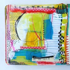 The last page in my mini journal. By Dori Patrick Journal D'art, Journal Themes, Art Journal Pages, Art Journaling, Journal Ideas, Bullet Journal, Tag Art, Collages, Collage Art