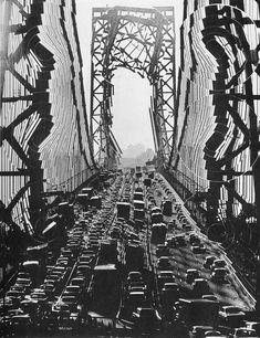 George Washington Bridge. Pol Bury print based on photo by Sam Falk, 1967.