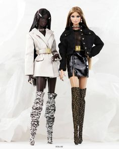 """L.Royalty55 on Instagram: """"''Lookin' for troubles'' . #NuFace #NadjaRhymes #ErinSalston . . . . . #Integritytoys #FashionRoyalty #dollmodel #doll #dollcollector…"""" Collector Dolls, New Pins, Punk, Couture, Model, Black, Style, Instagram, Fashion"""
