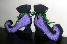 Witch's Shoes- Cute Halloween Decor.