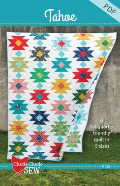 This quilt makes me want to take a road trip to the desert...or to Tahoe! Recommended for intermediate quilters or even adventurous beginners comfo...
