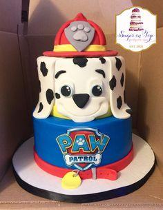 Paw patrol Marshall birthday cake! Facebook.com/SugarOnTopCakes Sugarontopcakesandsweets.com