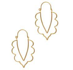 Modern Tropical Sun Earrings in Gold