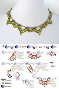FREE beading pattern for necklace Crystal Loops
