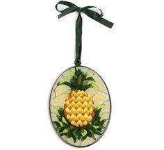 Stained Glass Pineapple Ornament