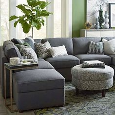 Seating - A transitional modular sectional with endless possibilities. Beckie has limited skus but can transform into as large or small as needed to fill your room. All pieces are welted with box seat cushions and loose boxed edge back.