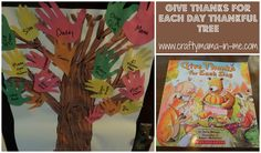 GIVE THANKS FOR EACH DAY THANKSFUL TREE!~* http://www.craftymama-in-me.com/give-thanks-for-each-day-thankful-tree/