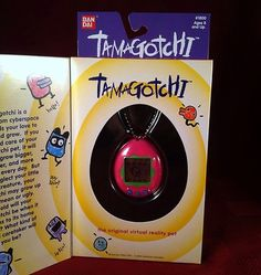 Original BAN DAI Tamagotchi Virtual Pet New In Box Hot Pink & Green 1996-1997