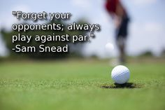 This is such a powerful golf philosophy to follow. Train your mind to do this and you will have gain an instant competitive edge.