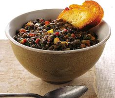 Help Build Lean Muscle With These High-Protein Foods and Snacks: Lentils. Hearty, inexpensive, and versatile, these humble-looking legumes pack a serious punch, with 9 grams of protein in a half-cup serving. Combine lentils with rice to form a complete protein, or make a lentil soup and enjoy with whole-grain crackers or bread. #14in14