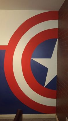 Hand Painted Captain America Shield