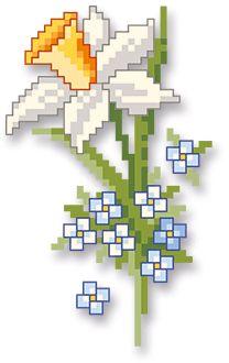 Frühjahrsduft - My site Celtic Cross Stitch, Cross Stitch Love, Cross Stitch Cards, Cross Stitch Flowers, Cross Stitch Designs, Cross Stitching, Cross Stitch Patterns, Hardanger Embroidery, Cross Stitch Embroidery