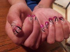 Nail art and Acrylic design on thumb - Nail Art Gallery