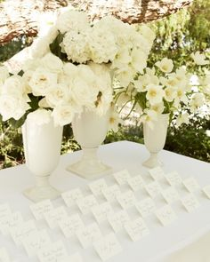 flowers on place card table