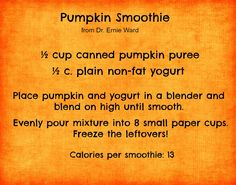 There's no tricks, just treats, with this healthy Halloween Pumpkin Smoothie recipe for pets from @Michael Dussert Erdmann Ward