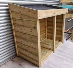 General Garden Storage Unit with Green Roof Planter Garbage Can Shed, Garbage Can Storage, Garden Storage Units, Storage Sheds, Bin Shed, Storing Garden Tools, Pressure Treated Timber, Outdoor Storage, Backyard Storage