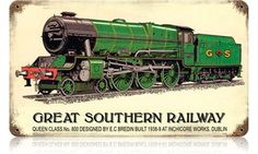 Great Southern Railway Vintage Metal Sign - Great Southern Railway Vintage Metal Sign This Great Southern Railway Vintage Metal Sign measures approximately 8 inches by 14 inches. Unlike most tin signs, we design and make our signs in the United State Vintage Metal Signs, Vintage Tins, Southern Trains, Rr Logo, Southern Railways, Norfolk Southern, Train Art, Book Posters, Train Engines