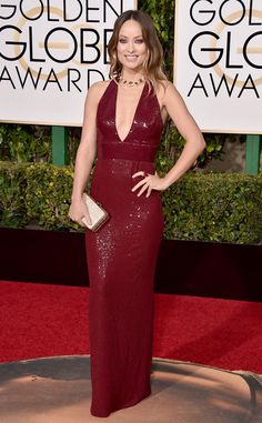 Olivia Wilde from Best Dressed at 2016 Golden Globes  The Vinyl star is sleek and chic in sequined Michael Kors Collection