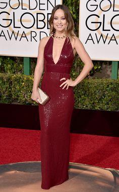 2016 Golden Globes Red Carpet Arrivals Olivia Wilde, Golden Globe Awards