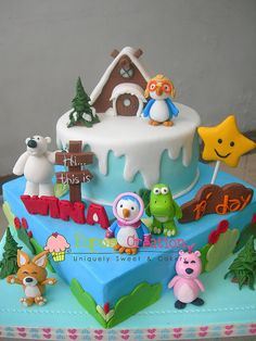 Pororo Cake birthday pororo kids girl boys party cake cupcake popcake