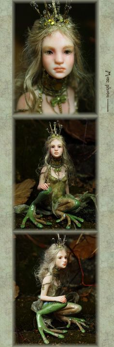 Frog Princess Handsculpted OOAK Art Doll by NenufarBlanco on Etsy