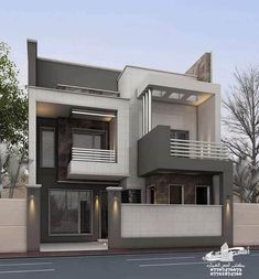 Amazing House Design Ideas For 2020 - Engineering Discoveries Modern Small House Design, Modern Exterior House Designs, Minimalist House Design, Modern Architecture House, Cool House Designs, Modern House Facades, 3 Storey House Design, Bungalow House Design, House Front Design