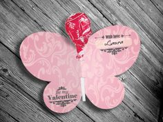 How to Make a Homemade Butterfly Valentines Card with Candy