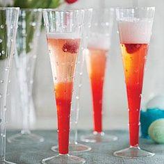 Raspberry-Rhubarb Spritzers Recipe   MyRecipes.com