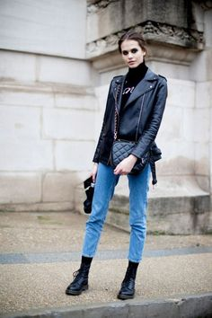 Wunderbar Denim Jeans, Combat Boots, Leather Jacket