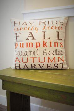 Fall Subway Art Pillow Cover