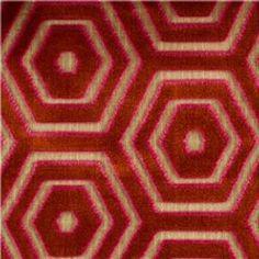 Modern High End Designer Geometric Cut Velvet Dark Taupe