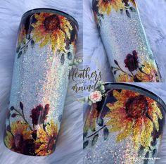Tumbler Cups, Glitter Tumblers, Mugs, Floral, Resin, Diy, Crafts, Inspiration, Craft Ideas