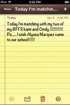 Matching with two of my BFFS kami and Cindy !!!!!!! Ps... I wish Alyssa Marquez came to our school !!