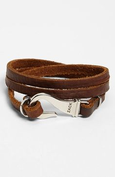 Zack+Triple+Wrap+Leather+Bracelet+available+at+ See related items on Fanatic Leather Store. Leather Cuffs, Leather Belts, Leather Jewelry, Leather Men, Leather Bracelets, Leather Store, Metal Jewelry, Men Accesories, Leather Accessories