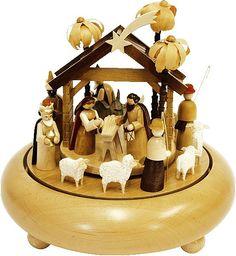 Richard Gläser Spieldose Christi Geburt, 36er Spielwerk Stille Nacht