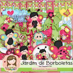 Kit Digital Jardim de Borboletas by Simone Rocha