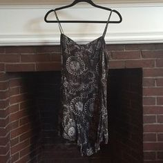 American Eagle Outfitters Pants - Charcoal & white American Eagle romper.