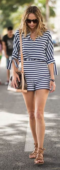 Striped Romper Styling #HelloWAY #WAYskincare