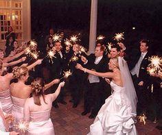 Sparkler favors wedding reception (originally spotted by @Elsetpc504 )