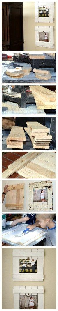 Tutorial cornice fai da te creato una grande knockoff con legno nuovo