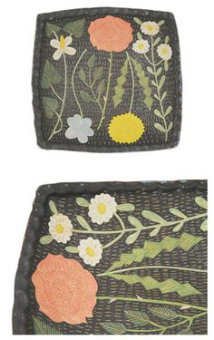 I just discovered Japanese artist Makoto Kagoshima thanks to a plate a day and I am kinda in love. I think I connect with the floral image. Ceramic Plates, Ceramic Pottery, Ceramic Art, Heart Patterns, Tile Patterns, Crafty Projects, Art Projects, Kagoshima, Wool Embroidery
