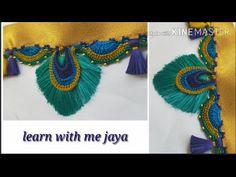 ಸೀರೆ ಕುಚ್ಚು kuchu tutorial with English subtitle .learn with me jaya Saree Tassels Designs, Saree Kuchu Designs, Saree Blouse Neck Designs, Blouse Designs, Hand Embroidery Videos, Hand Work Embroidery, Embroidery Dress, Embroidery Kits, Boho Crochet Patterns