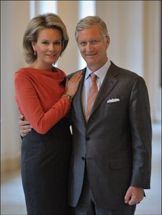 Crown Prince Philippe & Princess Mathilde of Belgium Dec 2012