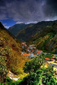 Forthcoming storm in Ribeira Brava valley  Madeira  Portugal